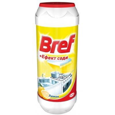 Порошок для чистки кухни Bref Эффект соды Лимон 500 г (9000100254953)