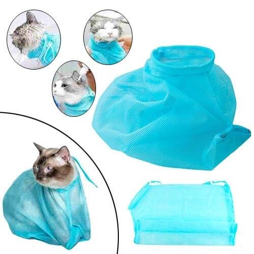 Мешок сетка для купания и груминга кота кошек, котокупальник