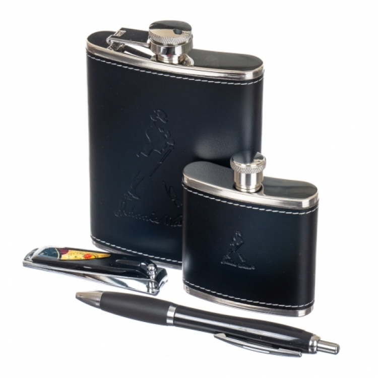 Набор подарочный Jonny Walker 2 фляги, ручка, ножик