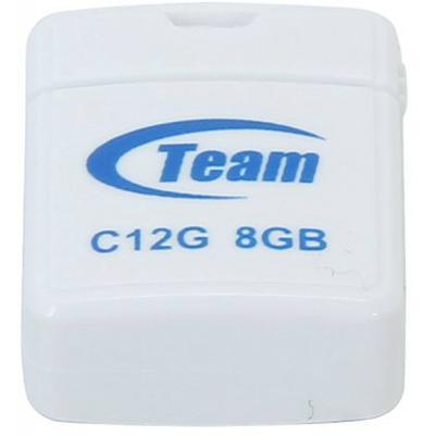 USB флеш накопитель Team 8GB C12G White USB 2.0 (TC12G8GW01)