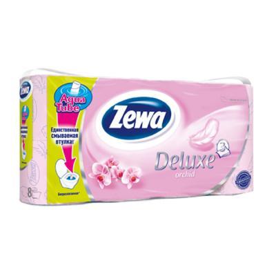 Туалетная бумага Zewa Deluxe 3-слойная Орхидея Розовая 8 шт (732254056